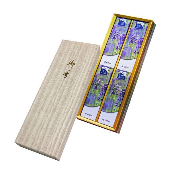 花かおりラベンダー 和装紙箱 短寸4入